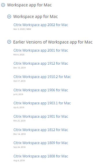 Citrix Workspace App For Mac 2002